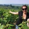 Paula in Champagne Vineyard